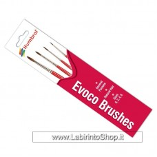 Humbrol Evoco Brushes Size 0 2 4 6 General Purpose