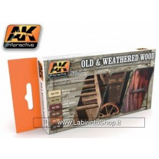 AK Interactive ak-562 Old and Weathered Wood Colors