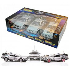 Welly Back to the Future Trilogy Gift DeLorean Replica Set 1:24
