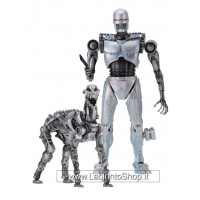 RoboCop vs The Terminator Action Figure 2-Pack EndoCop & Terminator Dog 18 cm