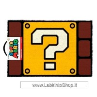 Super Mario Question Mark Block Door Mat 40 X 60cm