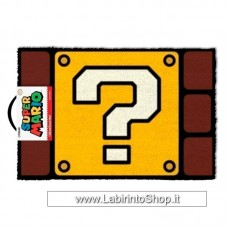 Super Mario Question Mark Block Door Mat 40 X 60cm