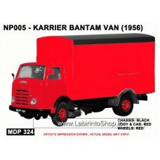 Karrier Bantam Van - Red 1/148 'N' Gauge