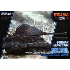 Meng wwt-003 Model – German King Tiger (Porsche turret) World War Toons