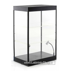 Single cabinet with 2 mobile led lamps with 2 Adjustables Shelves