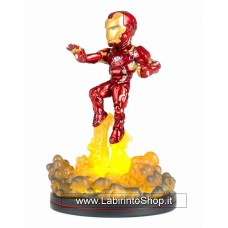 Marvel Comics Light-Up Q-Fig Figure Iron Man 14 cm