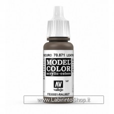 Vallejo Model Color 147 Leather Brown 17ml