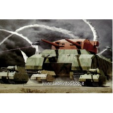 Takom 3001 1/144 Landkreuzer P1000 Ratte Proto Type &Panzer VIII Maus 1+2 Model