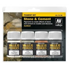 Vallejo Acrylic Paints 40ml Bottle 73.192 Set of 4 Stone and Cement 40 ml