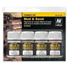 Vallejo Acrylic Paints 40ml Bottle 73.191 Set of 4 Mud and Sand 40 ml