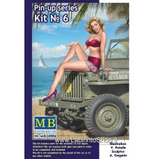 MB Master Box Samantha 1/24 Scale Pin-up Series Model (I Want You for US Army) Kit #6
