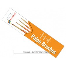 Humbrol Pennelli Palpo Brush Pack 000, 0, 2, 4