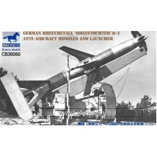 "Bronco 1/35 Rheinmetall ""Rheintochter"" R-2 Anti-Aircraft Missiles and Launcher"