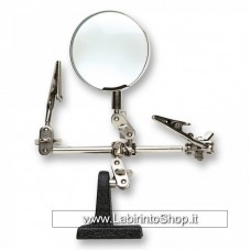 Artesania Helping Hand with Magnifying Glass with Two Clamps