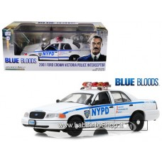 Greenlight - Ford USA - Crown Victoria Police Interceptor New York City Department NYPD 2001 - Blue Bloods