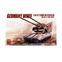 Modelcollect german WWII Flak 40 128 mm Zwillingsflak With E-100 Hull
