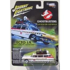 Johnny Lightning White Lightning 1959 Cadillac Eldorado Ghostbusters Ecto-1 White Top Black
