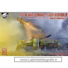 Model Collect Fist of War German E-75 Ausf.Vierfubler Rheintochter R1 1/72