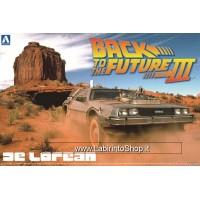 Back to the Future De Lorean Part III & Railroad (Model Car) 1/24