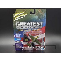 Johnny Lightning The Greatest Generation WWII Allied Vicotry Curtiss P-40E Warhawk