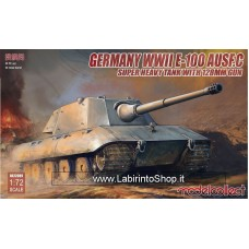 Model Collect Germany WWII E-100 Ausf.C Super Heavy Tank With 128mm Bun