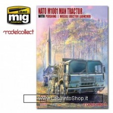 Model Collect Nato Usa Army M1001 Tractor with Pershing II MIssile Erection Launcher 1/72