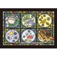 My Neighbor Totoro Art Crystal Jigsaw Puzzle Totoro's Forest Letter