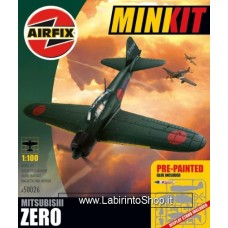 Airfix - 1/100 - Minikit: Mitsubishi Zero Aeroplane (Plastic Model Kit)