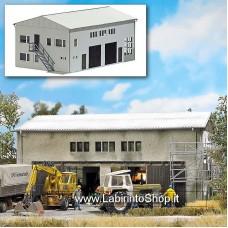 Busch HO 1411 - Concrete Garage Kit