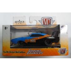 M2 Machines 1/64 Ground Pounders 1969 Dodge Charger Daytona HEMI