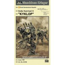 "Hasegawa Maschinen Krieger 1/20 Humanoid Unmanned Interceptor Groser Hund Aust. K ""Kyklop"" Plastic Model"