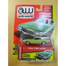 Auto World 1:64 - Vintage Muscle - 1973 Dodge Challenger Light Green
