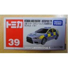 Takara Tomy Tomica 39 Mitsubishi Lancer Evolution X British Police Type
