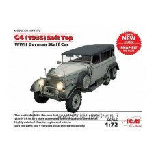 ICM 72472 G4 (1935 production), WWII German Staff Car, snap fit/no glue