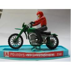 Politoys - MT 12 Hosquarna 250 - Motociclista Verde