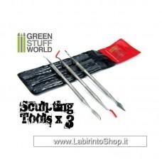 Green Stuff World 3x Sculpting Tools