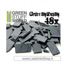 48x Gravestones Plastic Set