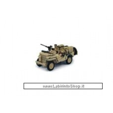 Cararama 1944 Jeep CJ-5 US Army with Gun, sandy yellow 1/43
