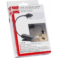 Busch 1298 LED Clip Lamp with Magnifying Glass