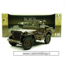 Welly - Scale 1/18 - Jeep Willys US Army Open