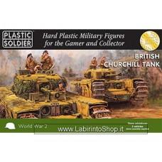 Plastic Soldier World War 2 British Churchill Tank 15 mm scale - 5 Vehicles