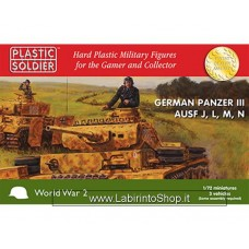 Plastic Soldier World War 2 German Panzer III Aufs J, L, M, N - 1/72 scale - 3 Vehicles