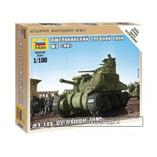 Zvezda 6264 Us Medium Tank M3 Lee 1/100