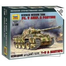 Zvezda 6196 German Medium Tank Pz.Kpfw. V Ausf. G Panther 1/100