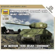 Zvezda 6263 Us Medium tank M4A2 Sherman 1/100