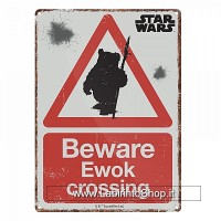 Star Wars Beware Ewok Crossng small steel sign 210mm x 150mm