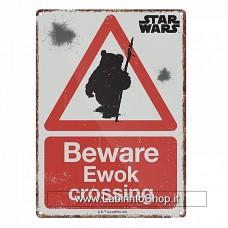 Star Wars Beware Ewok Crossng small steel sign 210mm x 150mm