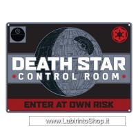 Star Wars Death Star Control Room Small Steel Sign 210mm x 150mm