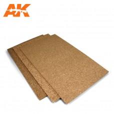 AK Interactive - AK8046 - Cork Sheet – FINE grained 200x300x1mm