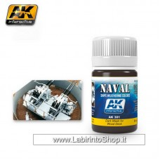 AK Interactive - AK301 - Dark Wash For Wood Deck